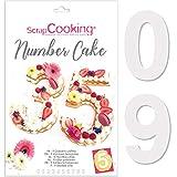 RÉALISEZ DES GÂTEAUX EN FORME DE CHIFFRES - Un kit de 9 gabarits pour réaliser des gâteaux, tartes, biscuits et génoises en forme de numéros de 0 à 9. Délicieux et léger, le number cake est la nouvelle tendance du cake design : parfait pour fêter tou...