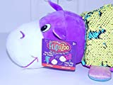 FlipaZoo Sequin (Hippo / Giraffe) The Pillow with 2 Sides of Fun for Everyone - Each Huggable Character is Two Wonderful Collectibles in One