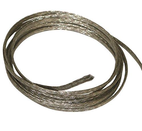 Aerzetix C17657 kabelmantel, 2 m, 3 mm, 15 A, gevlochten, vertind koper, 16 x 4 x 0,15 mm