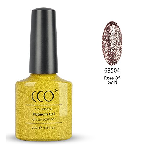 CCO UV-/LED-nagellak, Soak Off, Platinum, Rose of Gold
