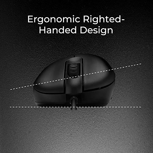 BenQ Zowie EC2 Ergonomic Gaming Mouse for Esports | Professional Grade Performance | Driverless | FPS Matte Black Non-Slip Coating | Medium Size