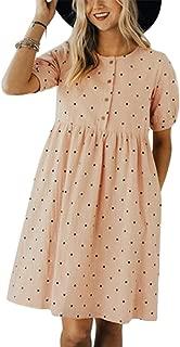 Cosygal Women's Denim Sleeveless Halter Ruffle Back Hollow Out Loose Mini Dress