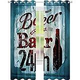 Cortina de ventana retro para restaurante de cerveza Pub W42 x L72 cortinas para...