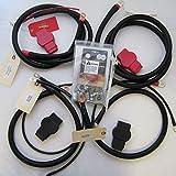 Custom Battery Cables Compatible/Replacement kit Dodge RAM Gen 3 2003-2007 5.9L 24 valve Cummins STRAIGHT starter