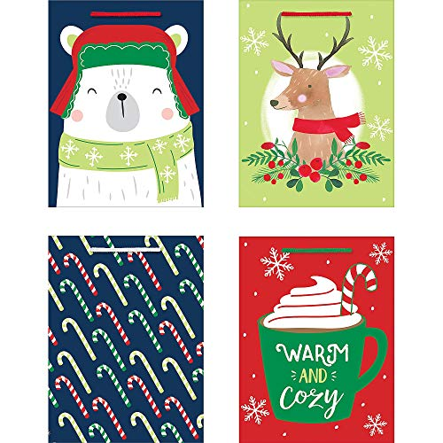 """Amscan gift wrap, 6"""" H x 7.8"""" W x 3"""" D4 in a package, Multicolor"""