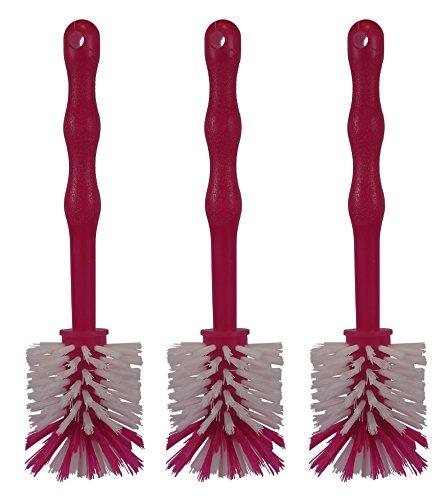 HG Verlag ( 3 Stück im Set Mixtopf Spülbürste - ideal zum Reinigen von Mixtöpfen wie z.B. Thermomix TM5 TM6 TM31 sowie Mixtöpfen - (3 x Pink)