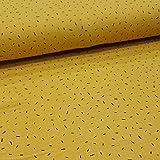 Musselin Meterware Konfetti Stripes (gelb)