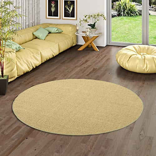 Snapstyle Sisal Natur Teppich Astra Grün Rund in 7 Größen