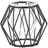 CLQ Jarrón De Hierro Forjado Hidropónico Hexagonal Minimalista Moderno - Decoración Creativa para El Hogar, Sala De Estar, Dormitorio, Oficina, Decoración-Noir||Hexagon