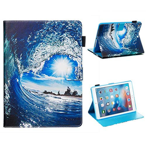 Vogu'SaNa Compatible for Tablet Case iPad 9.7 2018 2017 Case PU Leather Protective Case Painting Pattern Flip Cover Cover Stand Card Slots Magnetic Cover Shell Sleeves