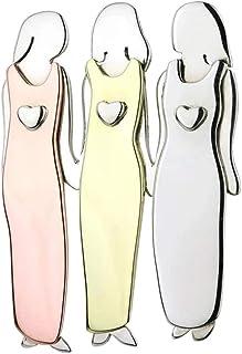 Avalita Broches de metal duradero para hermanas y hermanas, para niñas y mujeres