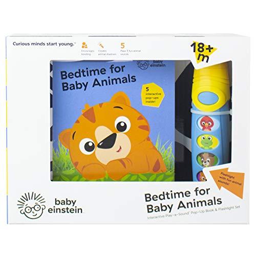 Baby Einstein - Bedtime for Baby Animals Pop-up Book & Flashlight set - Play-a-sound - PI Kids
