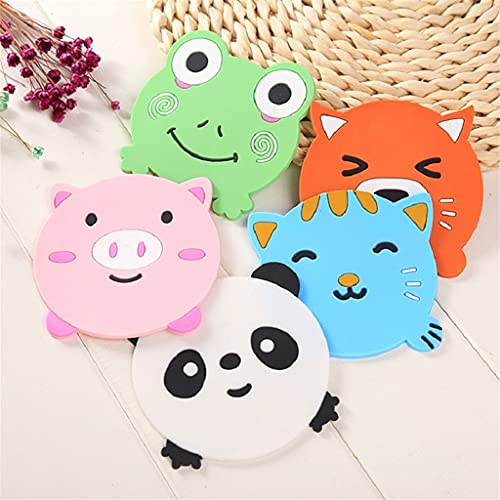 YUTRD ZCJUX 5 pcs Kitchen Accessories Animal Silicone Coaster Mat Heat Resistant Cup Placemat Mug Coaster Tools Kitchen Gadgets