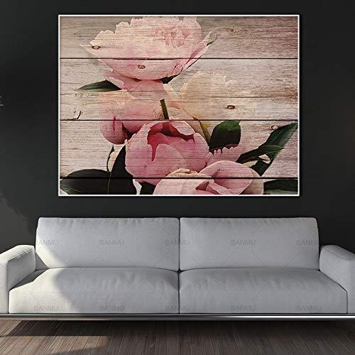 jiushice Rahmenlose Leinwand ng Wandkunst Bilder Wohnkultur Drucke auf Blumen und Schmetterlinge Wand Poster Dekoration für Wohnzimmer 30x40cm