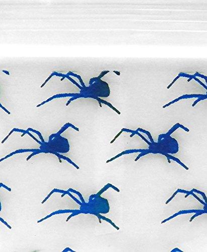 Original Mini Ziplock Reclosable Plastic Bags, Spider (1510, 100 Bags)