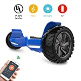 HYPER GOGO Off Road, Electric Self Balancing All Terrain Hoverboard with Built-in Speaker and LED Lights, UL2272 Certified, 8.5 Inch, Blue