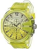 Diesel Mega Chief Chronograph Yellow Polyurethane Watch