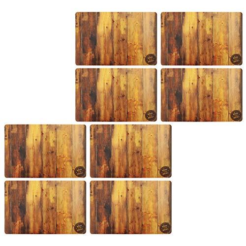 """COM-FOUR® 8x Noble mata stolowa """"King of the Grill"""" o wygladzie drewna - Podkladka Premium - Zmywalne podkladki stolowe, podkladki"""
