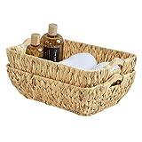 FairyHaus Wicker Baskets with Handles, Natural Wicker...