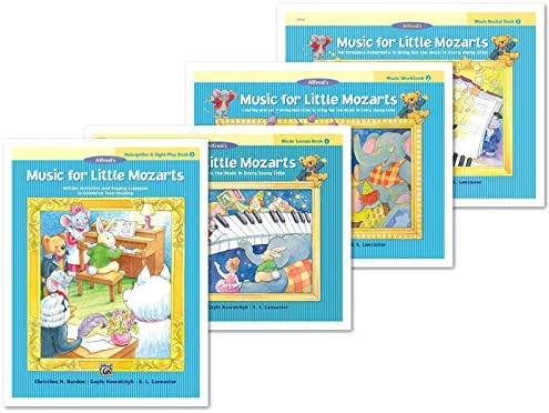 New Music for Little Mozarts Level 3 4 Books Set Lesson Book 3 Workbook 3 Recital Book 3 Notespeller product image