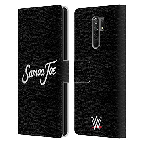 Head Case Designs Officially Licensed WWE Logo Samoa Joe Leather Book Wallet Case Cover Compatible with Xiaomi Redmi 9