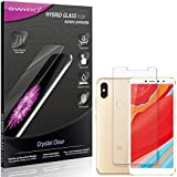 SWIDO Panzerglas Schutzfolie kompatibel mit Xiaomi Redmi S2 Bildschirmschutz-Folie & Glas = biegsames HYBRIDGLAS, splitterfrei, Anti-Fingerprint KLAR - HD-Clear