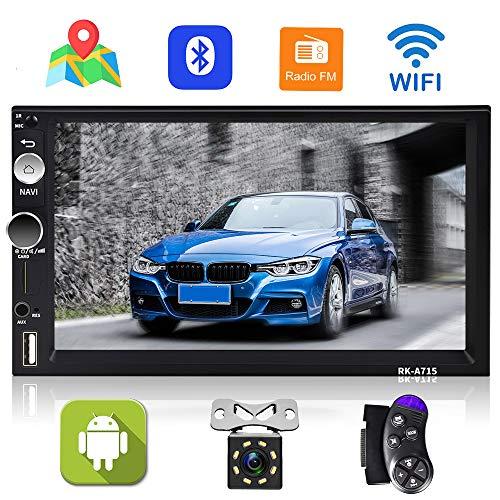 Android Autoradio GPS Navigation Radio Player, Podofo Auto Stereo 2 Din 7 '' Touchscreen Bluetooth WiFi FM Empfänger Handy Spiegel Verbindung mit AUX/SD/USB + Rückfahrkamera