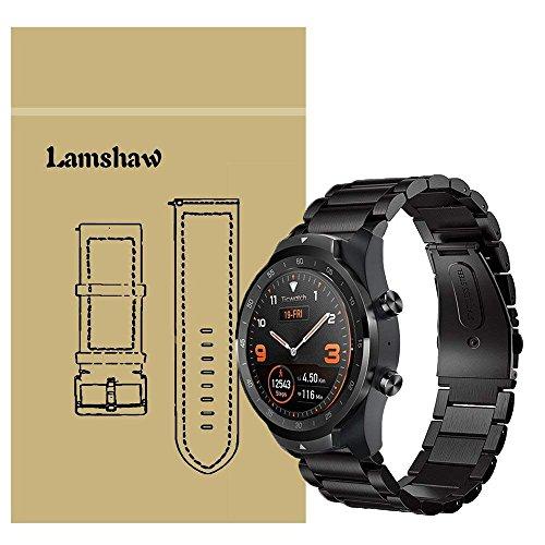 Ceston Metallo Acciaio Classica Cinturino per Smartwatch TicWatch PRO (Nero)