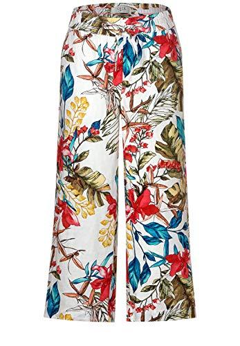 Cecil Damen Culotte-Hose aus Leinen White XXL