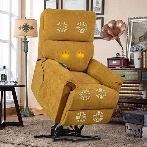 Best Lift Chair for Elderly with Massage & Heat, Heavy Duty Lift Chairs Electric Recliner Chairs with Rem