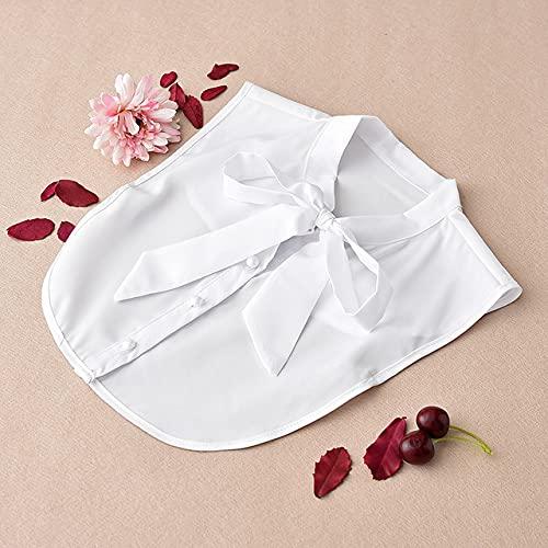 Gran oferta, camisa s¨lida, corbatas de cuello falso, blusa blanca y negra y roja, collares vintage para mujer, accesorios de ropa para hombres, lazo blanco