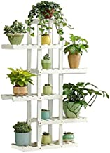 ZXHDND Flower Stand Flower Stand Flower Pot Stand Wooden 5 Layers Asymmetric Plant Display Stand Multilayer Plant Stand Fl...