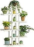 Flower Stand Tiesto soporte de madera 5 capas asimétrica de la planta del soporte de exhibición de múltiples capas de la planta exhibición del soporte de flor de almacenamiento estante del pote...