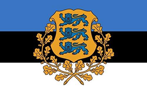 Etaia 5,4x8,4 cm - Auto Aufkleber Fahne/Flagge von Estland mit Wappen Estonia Sticker Motorrad Europa Länder