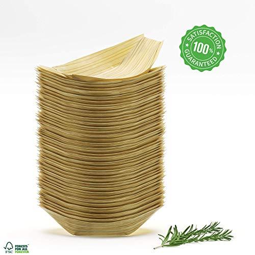 Bamboe Platen 50-100 PCS Pack Grote Party Platen Natuurlijke Alternatieve Kunststof Platen Papier Platen Eco Vriendelijk Composteerbare Biologisch Afbreekbare Houten Boten 4-7