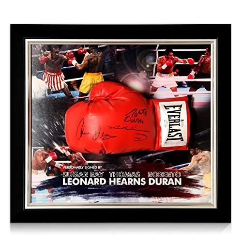 exclusivememorabilia.com Guante de Boxeo Firmado por Sugar Ray Leonard, Thomas Hearns y...