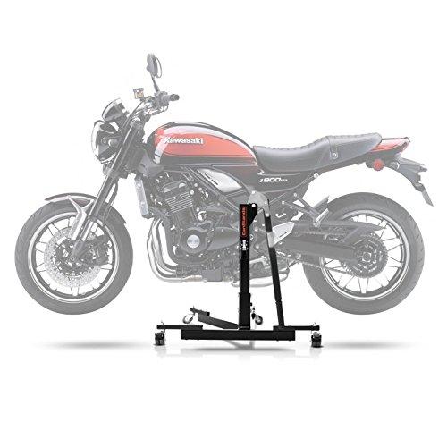 ConStands Power Evo-Zentralständer für Kawasaki Z 900 RS/Cafe 18-20 Schwarz Motorrad Aufbockständer Montageständer Heber