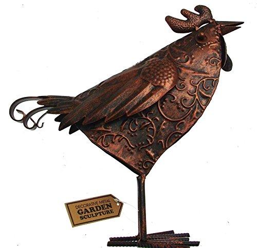 Primus métal Coquelet Jardin Oiseau Peint à La Main Jardin Poulet scuplture Ornement