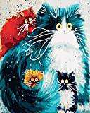 WISKALON DIY Peinture par Numéro Kit,Peindre par Nombre sur Toile pour Adultes Débutant -4...