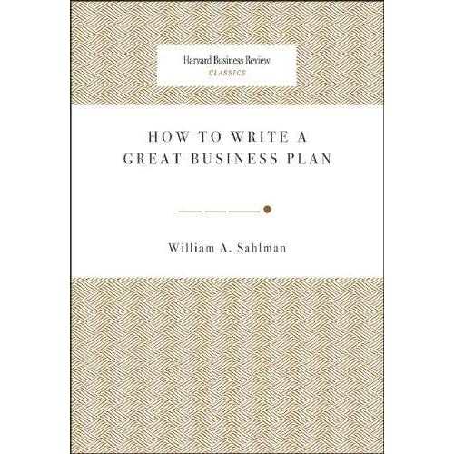 how to write a business plan william sahlman