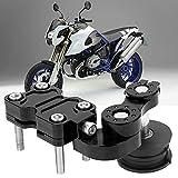 Rullo tendicatena, tendicatena per Moto in Gomma in Lega di Alluminio per Veicoli Fuoristrada per ATV per Moto per Dirt Bike(Nero)