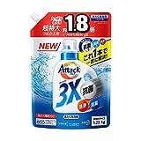 【大容量】アタック 3X(抗菌・消臭・洗浄もこれ1本で解決!)詰め替え1220g
