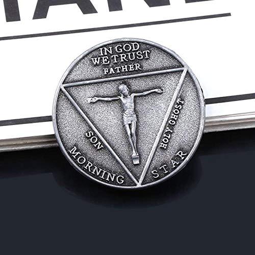 Moneda Conmemorativa de la Moneda Conmemorativa de Satanás Pentecostés Moneda Conmemorativa de Halloween Accesorios de Metal Prop Moneda