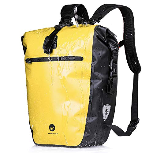 BAIGIO 27L / 30L Multi-Tasca Borsa per Bicicletta Impermeabile Borse Portapacchi Posteriore Bici MTB Sacchetto della Bicicletta per Ciclismo e Viaggio (Giallo)