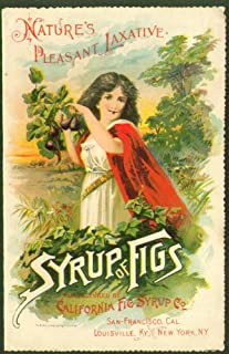 Syrup of Figs Nature's Pleasant Laxative card 1880s