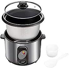 SENCOR SRM 1000SS Cuiseur à riz 400 W avec insert de cuiseur vapeur Cuillère à riz 1 l Gris