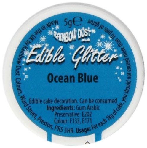 Rainbow Dust Edible Glitter Ocean Blue