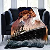 Gmhnssdszd Movies Titanic Jack Rose Hug Soft Fannel Fleece Throw Lightweight Warm Plush Blankets Bed Couch Office Home Accessories Funny Gifts for Women Men Kids Pets 50x40inch,Black
