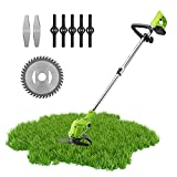 Brush Cutter, Cordless Grass Trimmer, S SMAUTOP, 24 V Lawn Trimmer Garden Tools for Weed-Whacking