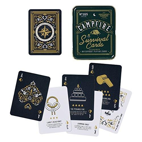 Gentlemens Hardware Campfire Survival Travel Playing Cards Set